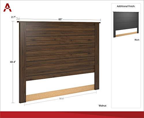 Ameriwood Home Eastwood Queen Headboard, Walnut Bundle Dimensions: 2.7 x 65.zero x 48.four inches