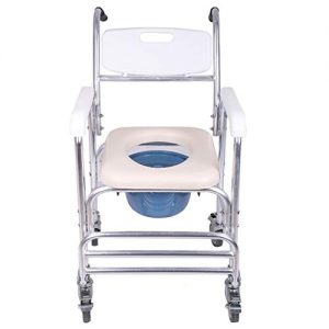 Fewear Ship from USA, Adjustable Over Toilet and Folding Bedside Commode,Comes with Splash Guard/Bucket/Lid for Adults Handicap (White)
