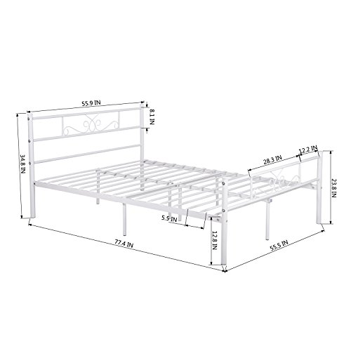 SimLife Mattress Foundation Support Platform Box Spring Needed Bundle Dimensions: 77.Four x 55.9 x 34.7 inches