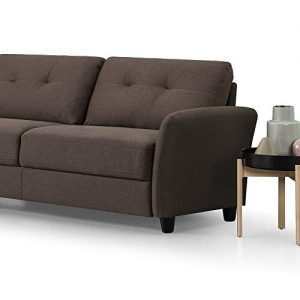 Zinus Ricardo Contemporary Upholstered 78.4 Inch Sofa / Living Room Couch, Chestnut Brown