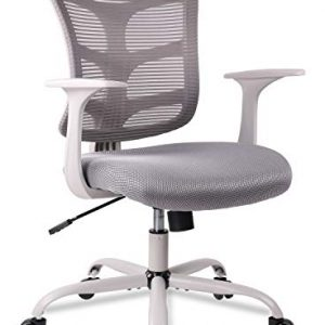 Ergonomic Office Chair Mid Back Mesh Computer Desk Swivel Task Chair with Armrests, Dove Grey