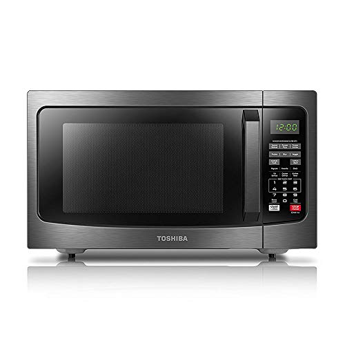 Toshiba EM131A5C-BS Microwave Oven with Smart Sensor, Easy Clean Interior, ECO Mode and Sound On/Off, 1.2 Cu.ft, 1100W, Black Stainless Steel