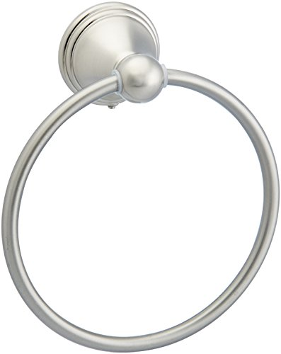 AmazonBasics AB-BR807-SN Modern Towel Ring, 6.3-inch Diameter, Satin Nickel