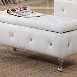 Kings Brand Furniture Bench, White