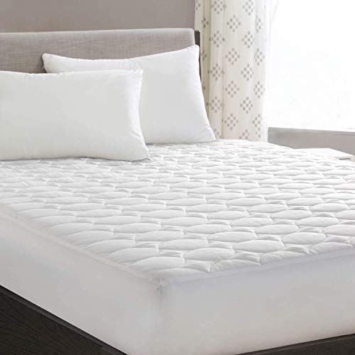 """HYLEORY Full XL Mattress Pad Cover Stretches up 8-18"""" Deep Pocket - Hypoallergenic Fitted Cooling Mattress Topper with Snow Down Alternative"""