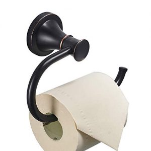 BESy Oil Rubbed Bronze Toilet Tissue Paper Holder Oil Rubbed Bronze Bathroom Accessories Toilet roll Paper Hanger, Wall Mounted, Rustproof