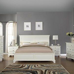 Roundhill Furniture Bedroom Furniture Bed Dresser King White