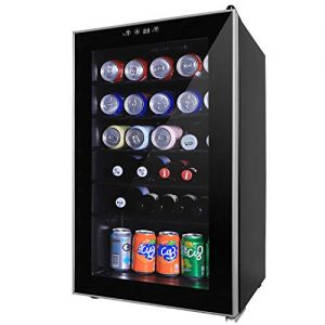 Northair 24 Bottle Wine Beer Cooler Compressor Refrigeration, Under Counter Wine Cellar with LCD Temperature Control, Double-layered Glass Door, Quiet Operation - perfect for home/business/dorm room