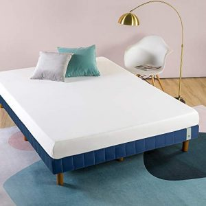 Zinus 11 Inch Quick Snap Standing Mattress Foundation/Low profile Platform Bed/No Box Spring needed, Navy, King