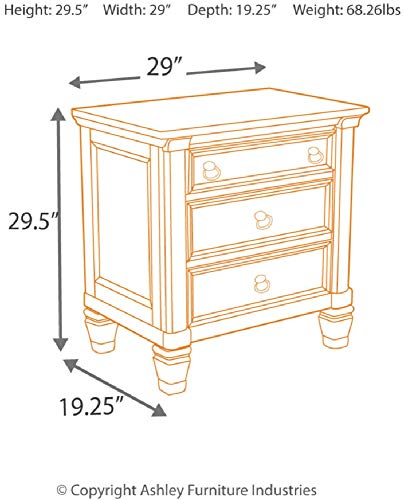 Signature Design by Ashley Prentice Nightstand Package deal Dimensions: 19.1 x 29.zero x 29.5 inches