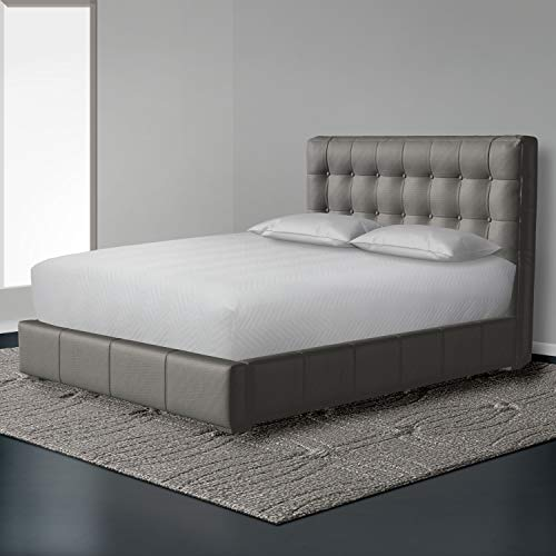 """Bedsack Classic Chevron Mattress Pad, Hypoallergenic & Stain Resistant, Quilted Top & Sidewalls, Fits Mattresses up to 10"""", Full"""