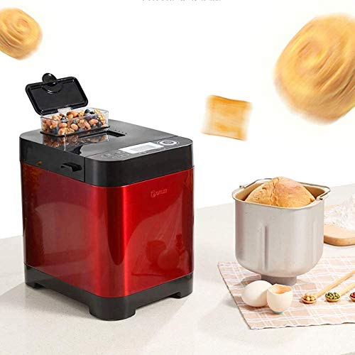 Bread Maker Automatic Multifunction Three Burnt Colors 12 Hours Delay Timer, Unified Copper Motor Automatic Insulation Power-Off Function Bread Machine 450W