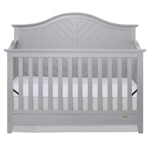 Dream On Me Ella 5 in 1 Convertible Crib, Pebble Grey