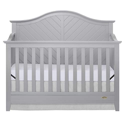 Dream On Me Ella 5 in 1 Convertible Crib, Pebble Grey