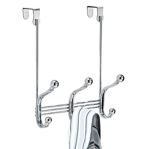 """iDesign Formbu Stainless Steel Wall Mount Mail and Key Rack - 11.25"""" x 2.5"""" x 4.5"""", Brushed/Espresso"""