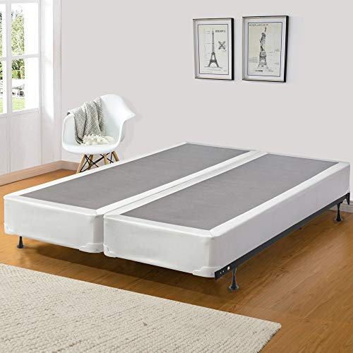 Greaton Fully Assembly Split Box Spring/Foundation For Mattress, Good For Back, Queen, White & LT Brown