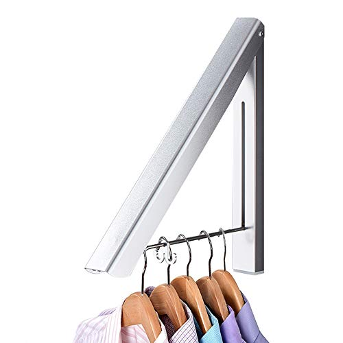 IN VACUUM Drying Racks for Laundry, Retractable Foldable Clothes Drying Rack, Aluminium, Home Storage Organizer Wall Hanger for Clothes (1 Racks, Silver)