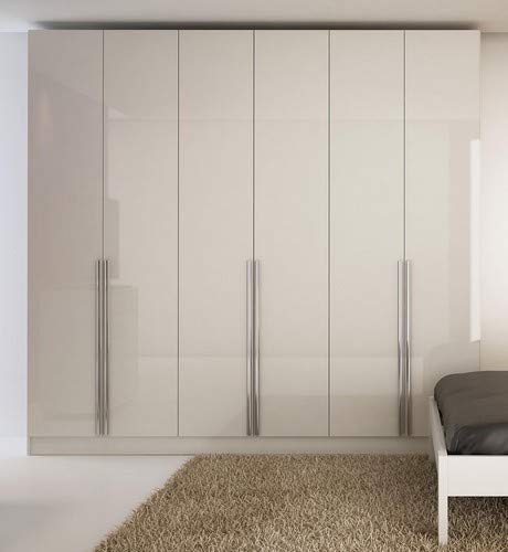 Manhattan Comfort Eldrige Collection 6 Door Freestanding Wardrobe Closet Bundle Dimensions: 90.5 x 90.7 x 19.zero inches