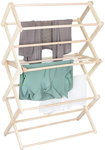 Pennsylvania Woodworks Clothes Drying Rack: Solid Maple Hardwood Laundry Rack for Sweaters, Blouses, Lingerie & More, Durable Folding Drying Rack, Made in USA, No Assembly Needed, Medium