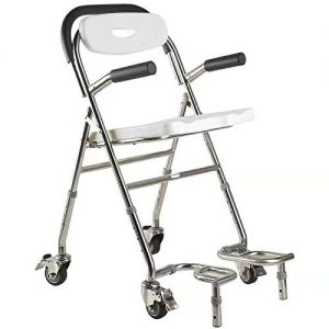 Elderly Assis Multifunctional Adjustable Bathroom with Padded Armrests and Back Medical Shower Bath Seat with Handle Non-Slip Wheel Universal Wheel Portable Bath Seat