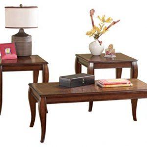 Signature Design by Ashley - Mattie 3-Piece Coffee Table Set, Reddish Brown