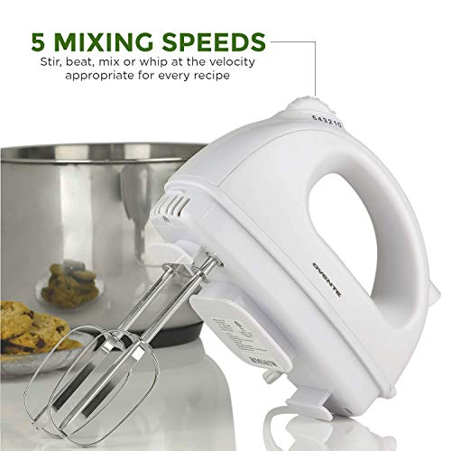 Ovente Electric Hand Mixer with 2 Stainless Steel Chrome Beaters and Extra Snap-On Guarantee: 1-12 months guarantee on Home (USA) Repairs and Replacements on workmanship and supplies from date of buy from approved distributor. Worldwide inquires please contract manufacture customer support instantly for higher help.