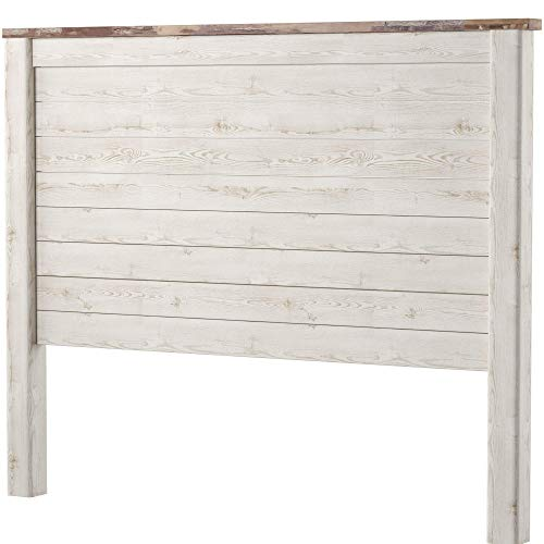 Ashley Furniture Signature Design - Willowton Full Panel Headboard - Contemporary Style - Component Piece - Queen Size - White