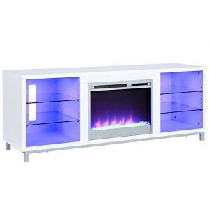 "Lumina Fireplace TV Stand for TVs upto 70"", White"