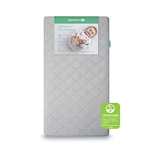 Newton Baby Crib Mattress and Toddler Bed   Waterproof   100% Breathable Proven to Reduce Suffocation Risk, 100% Washable, Hypoallergenic, Non-Toxic, Better Than Organic - 2-Stage Cover Included
