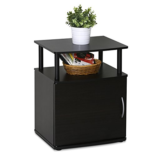 FURINNO Jaya End Table, One, Black Wood Guarantee: 1 12 months restricted producer.