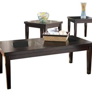 Signature Design by Ashley - Denja Occasional Table Set - Includes Cocktail Table and 2 End Tables, Dark Brown