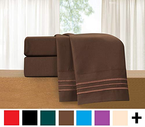 Luxury 4-Piece Bed Sheet Set - Luxury Bedding 1500 Thread Count Egyptian Quality - Wrinkle and Fade Resistant Hypoallergenic Cool & Breathable, Easy Elastic Fitted