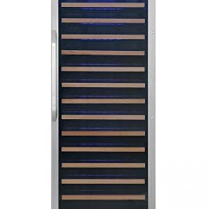 EdgeStar CWR1662SZ 24 Inch Wide 151 Bottle Capacity Free Standing Single Zone Wine Cooler with Even Cooling Technology