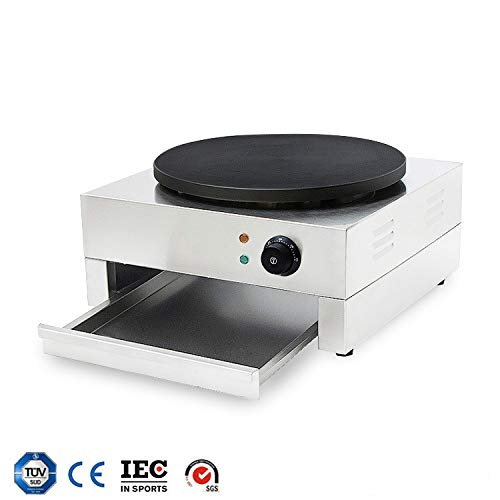 """HUIDANGJIA 16"""" Electric Crepe Machine Commercial Crepe Maker Machine Pancake Griddle Electric Non-stick Hot Plate Snack Machine 110V"""