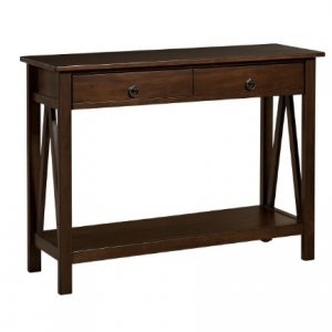 "Linon Home Dcor Console Table, 42.01""w x 13.98""d x 30.71""h, Antique Tobacco"