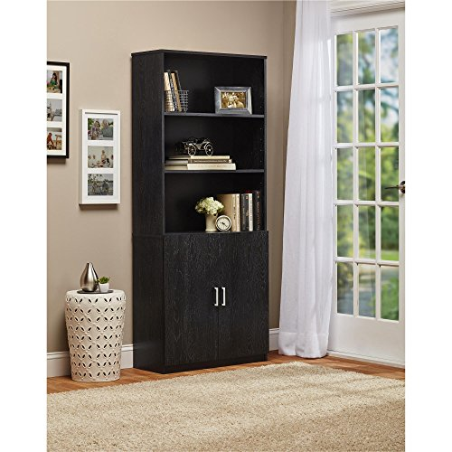 Ameriwood Home Moberly Bookcase with Doors Bundle Dimensions: 12.four x 29.7 x 70.6 inches