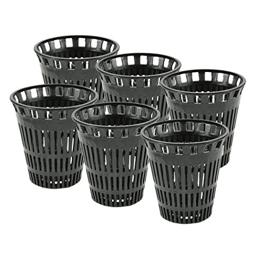 Danco 10739P Catcher Replacement Baskets for Stand-Alone Shower Trap   Hair Drain Clog Prevention, Pack of 6, Black