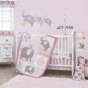 Bedtime Originals Eloise 3-Piece Crib Bedding Set, Pink