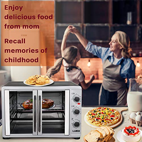 Luby Large Toaster Oven Countertop French Door Designed Launch Date: 2018-12-02T00:00:01Z