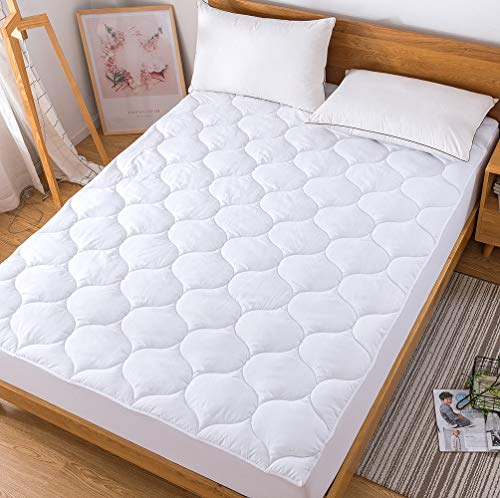Decroom Cool Mattress Pad Twin,Down Alternative Quilted Mattress Protector, Breathable Fitted Sheet Matress Cover,Twin