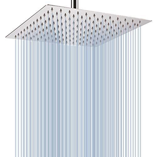 Rain Shower Head - Voolan 12 Inches Large Rainfall Shower Head Made of 304 Stainless Steel - Perfectly Adjustable Alternative to Bathroom Shower Heads