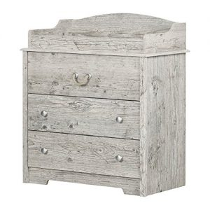South Shore 11894 Aviron Changing Table with Drawers, Seaside Pine