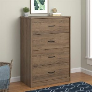 Mainstays 4-Drawer Dresser, Rustic Oak