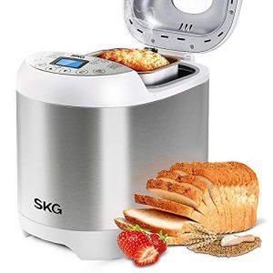 SKG 2LB Automatic Programmable Bread Machine Multifunctional Bread Maker-Silver
