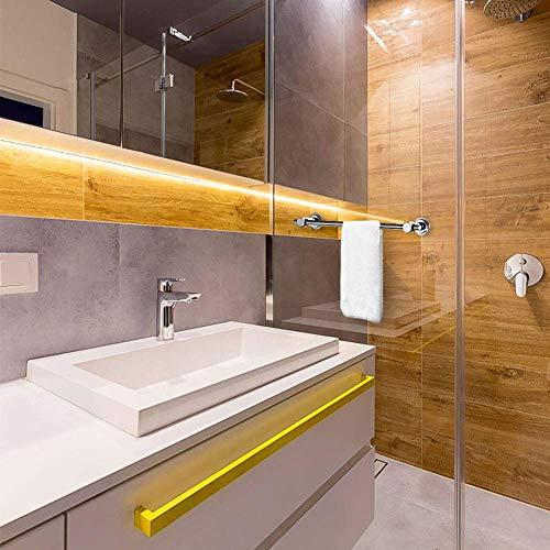 BOPai 24 inch Vacuum Suction Cup Towel Bar,Removeable Shower Mat Rod Shower Model: BOPai