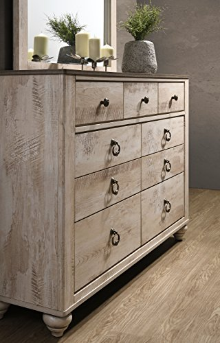 Roundhill Furniture Imerland Contemporary White Wash Finish Bundle Dimensions: 85.1 x 63.Four x 54.5 inches