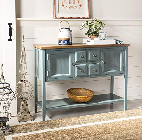 Safavieh American Homes Collection Charlotte Distressed Light Blue Sideboard