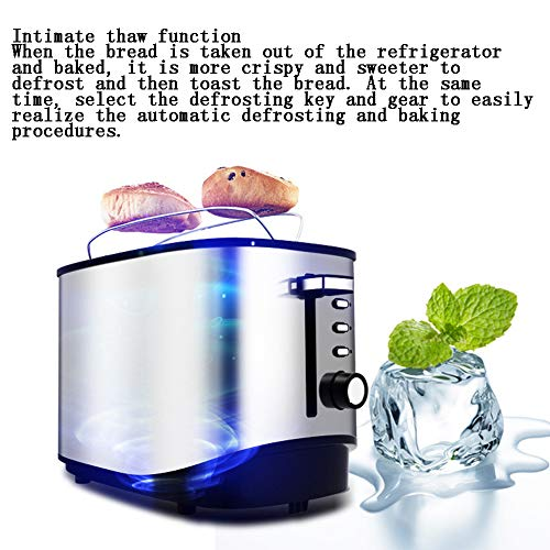 Toaster, 2 Slices Of Toaster, Stainless Steel, Extra Wide 2Slice Long Slot Toaster Toaster, 2 Slices Of Toaster, Stainless Steel, Extra Wide 2Slice Long Slot Toaster, 7 Browning Setting Warming Rack/Variable Width/High-Lift/Defrost/Reheat/Cancel/Automatic Toaster.