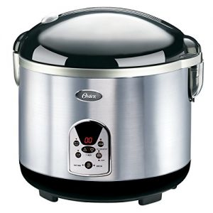 Oster 20-Cup Digital Rice Cooker, Black/Stainless Steel (003071-000-000)