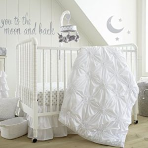 Levtex home Levtex Home Baby Willow 5 Piece Crib Bedding Set, White